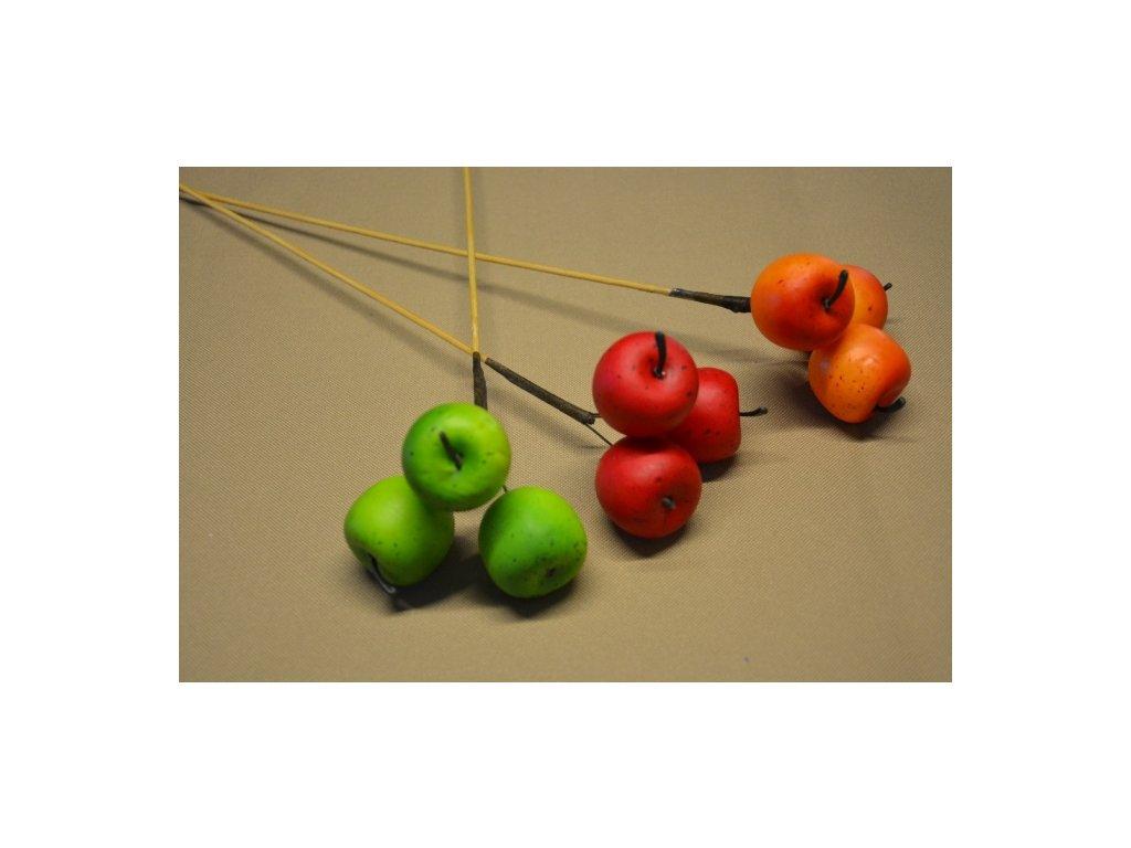 CERINO Umělý plod 3 JABLKO pik 55cm oranžové