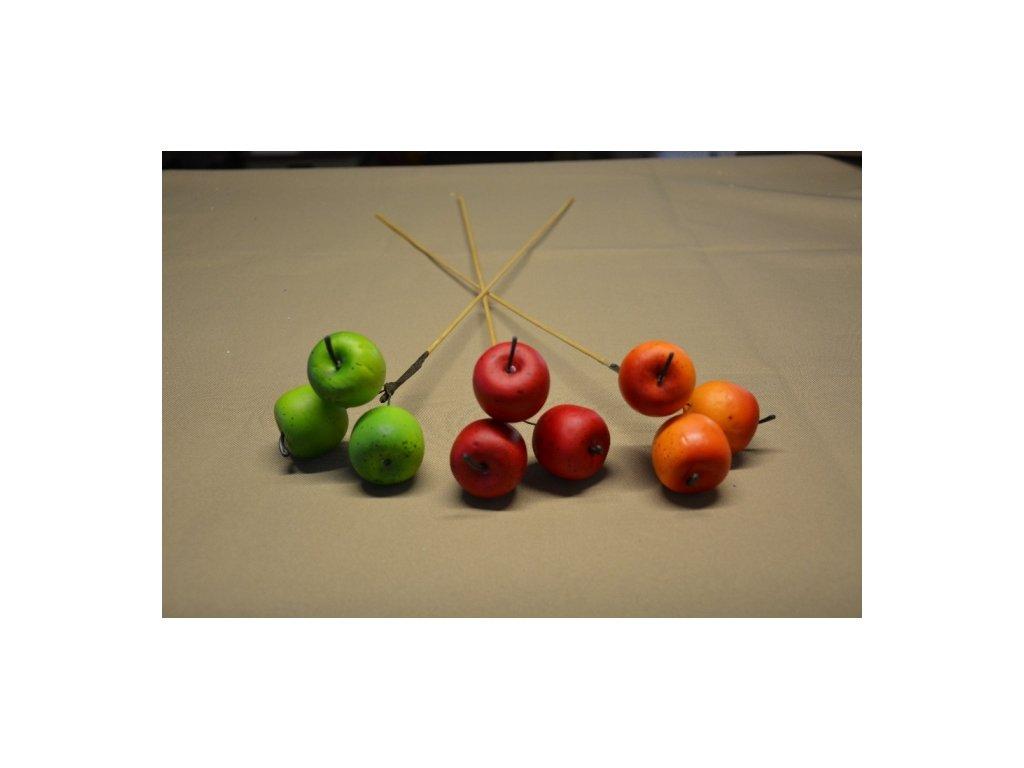 CERINO Umělý plod 3 JABLKO pik 55cm zelené
