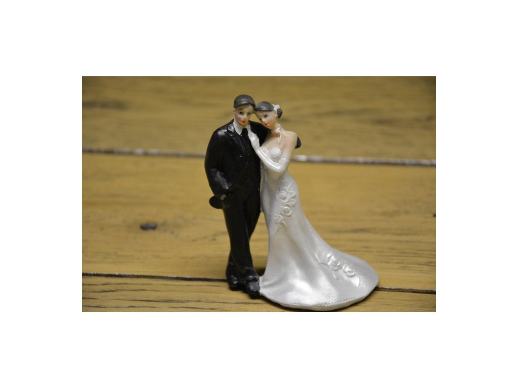 CERINO Figurka svatební pár 12cm bez závoje
