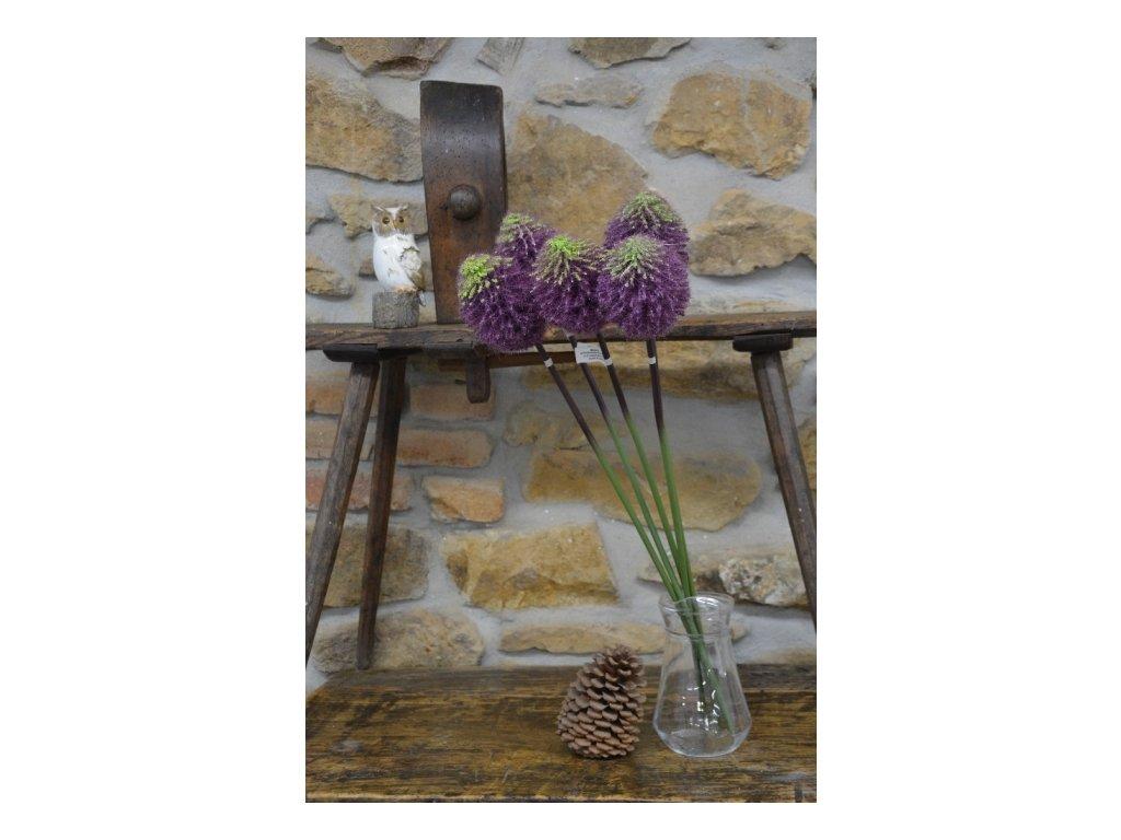 CERINO Umělá květina Bodlák 78cm fialový 1ks