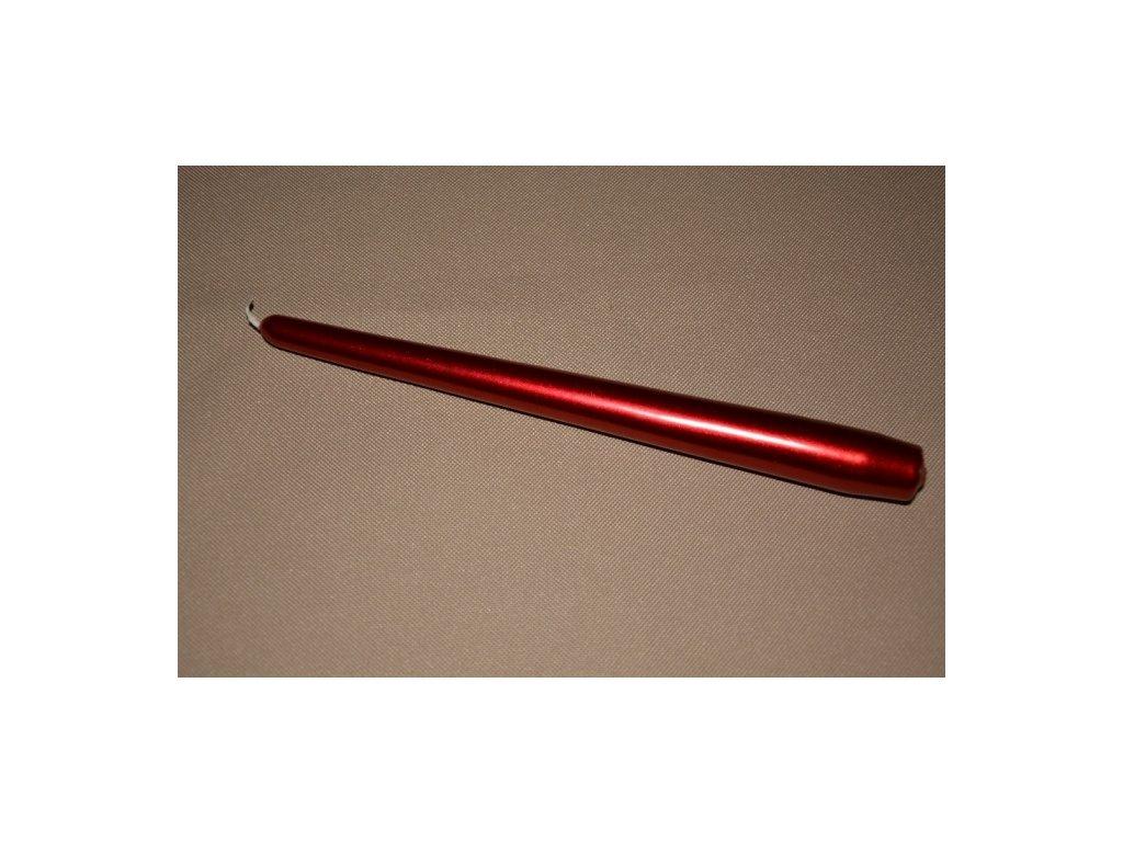 CERINO Gotická svíčka 25cm červená