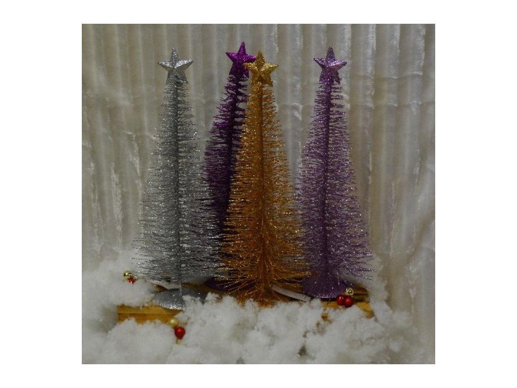 CERINO Vánoční stromeček kovový 50cm fialový