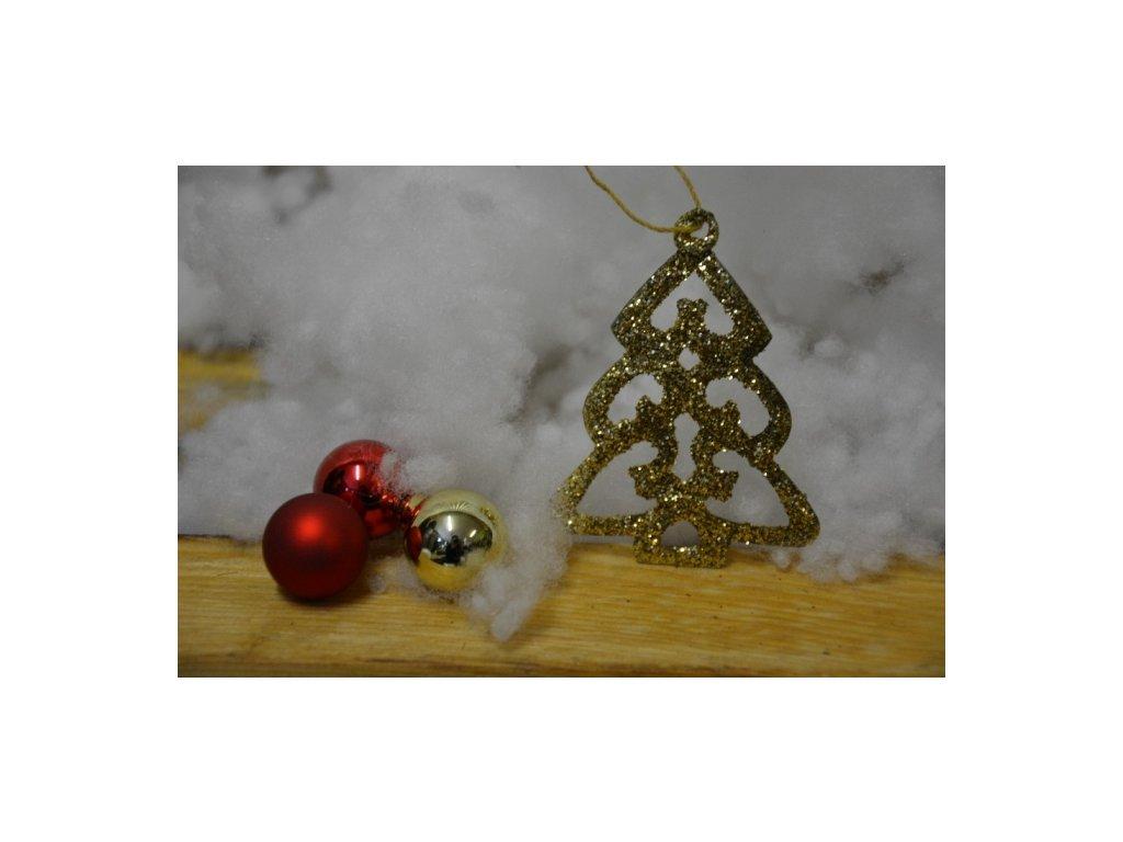 CERINO Ozdoba vánoční stromeček 7cm zlatý