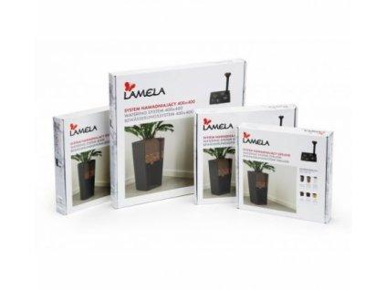 Lamela Samozavlažovací systém do květináčů Malwa, Lilia, Duet 250 černý