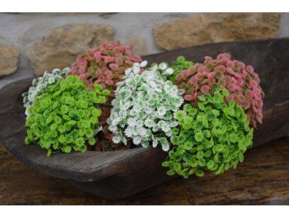 CERINO Umělá květina drobnokvětá délka 20cm bílá