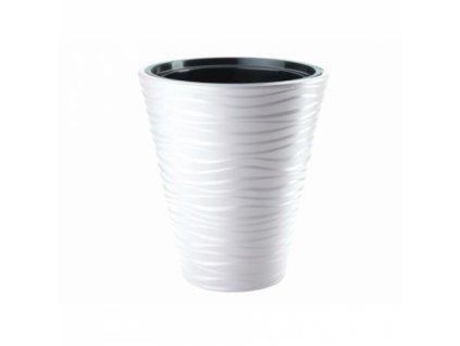 FORM Plastic Květináč Sahara mrazuvzdorný 35 bílý