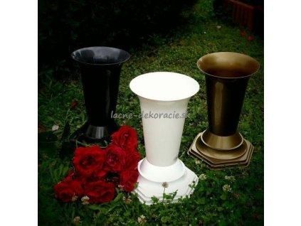 CERINO FLAKON FL2 Váza na hrob 32cm bílá