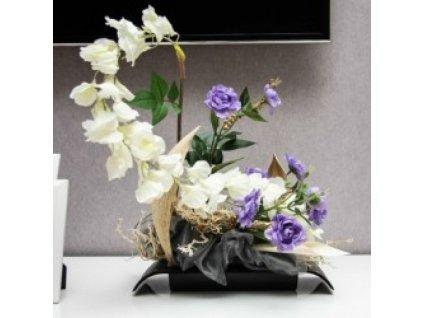 Don-plast Aranžovací nádoba Ikebana IK0 19x13 černá