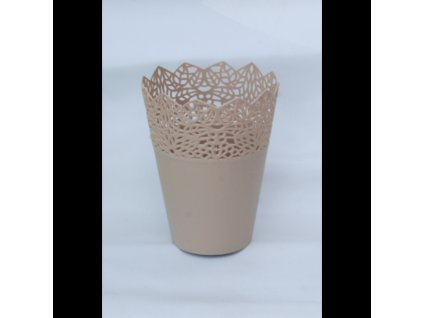 SEMPRO květináč Corona 14cm, výška 18cm cappuccino