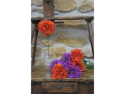 CERINO Umělá květina Chryzantéma velkokvětá 65cm fialová