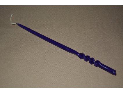 CERINO Svíčka kroucená 30cm fialová