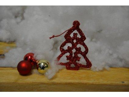 CERINO Ozdoba vánoční stromeček 7cm červený