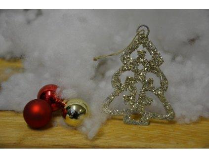 CERINO Ozdoba vánoční stromeček 7cm gold