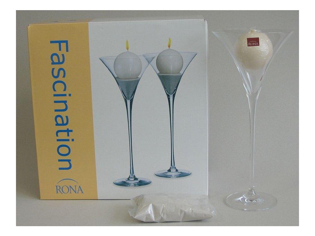FASCINATION Svícen (tvar martini)