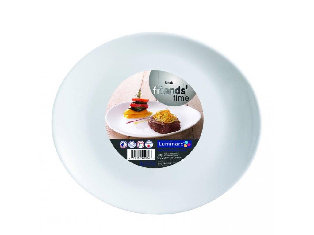 FRIENDS´TIME talíř steak ovál bílý 30x26 cm 6 ks