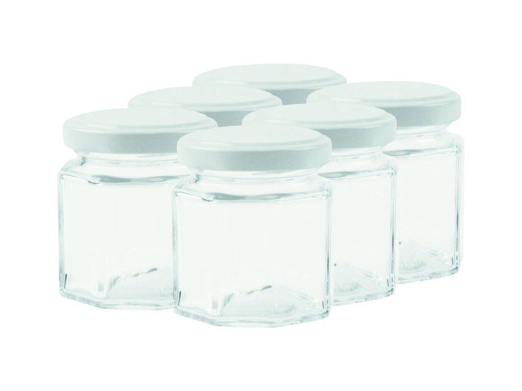 BREECH Zavařovací sklenice 10 cl hranatá s Twist v