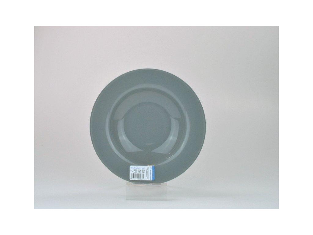 Talíř hluboký 23 cm, šedá