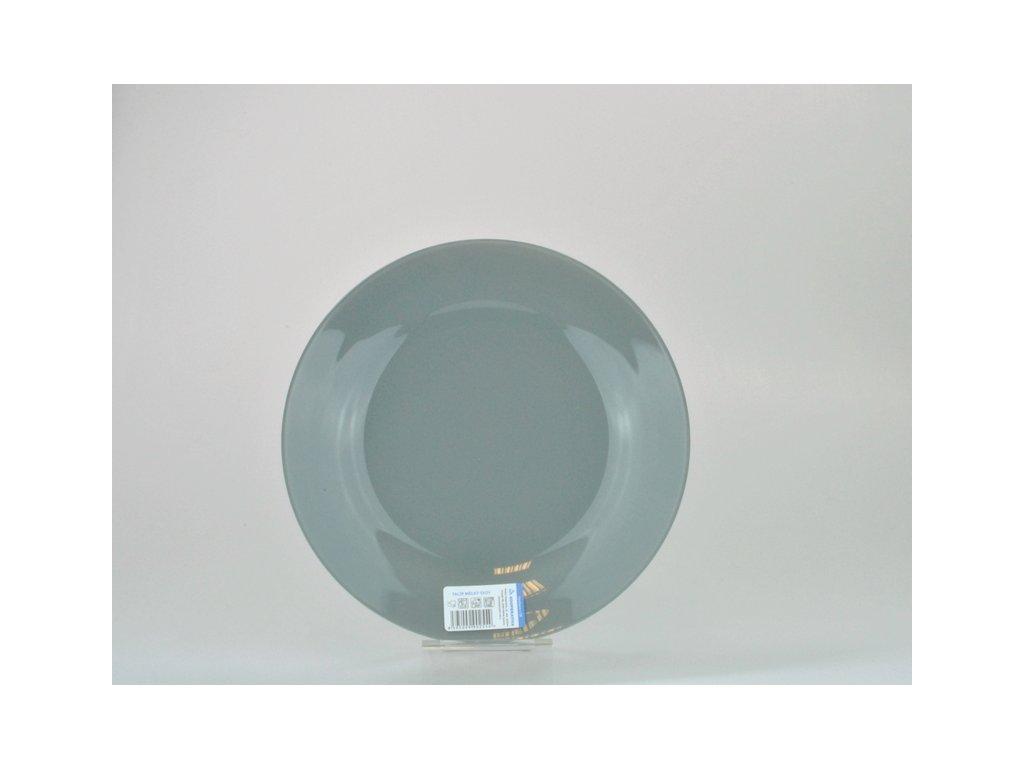 Talíř plochý 26 cm, šedá