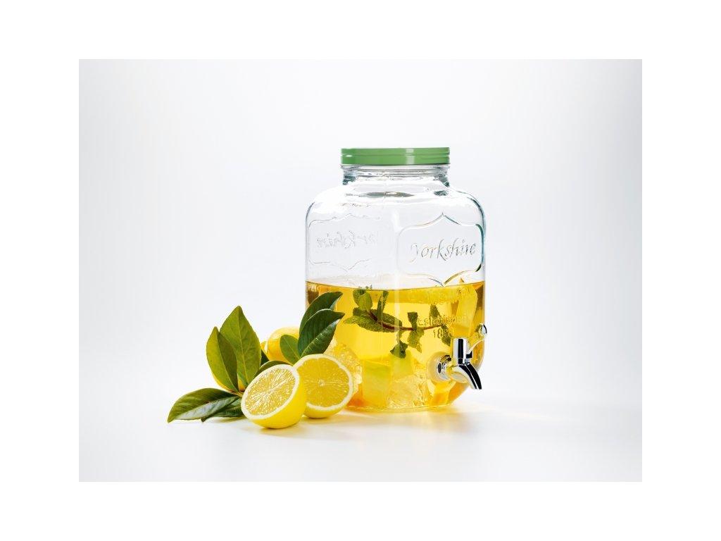 SUMMER FUN Skleněný zásobník na nápoje s kohoutkem