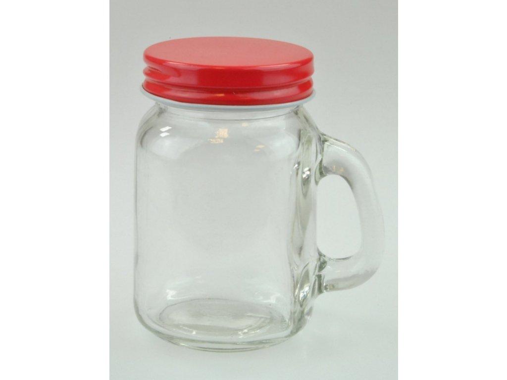 SUMMER FUN II sklenice s uchem 120 ml, červené víč