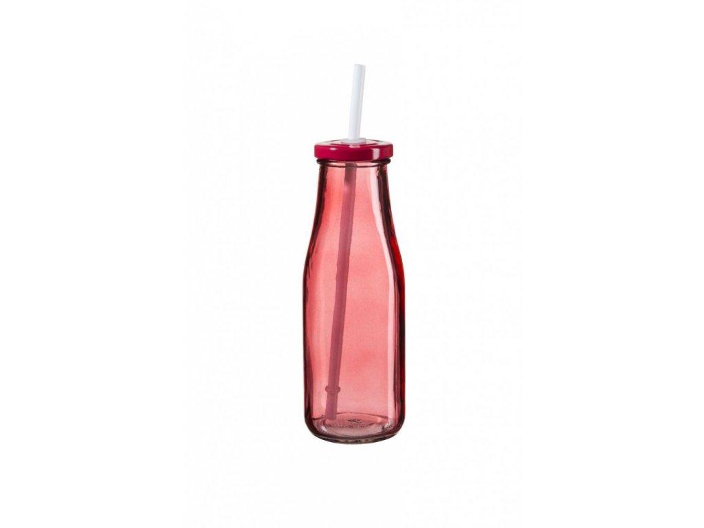 SUMMER FUN II lahev 44 cl červená, červené víčko