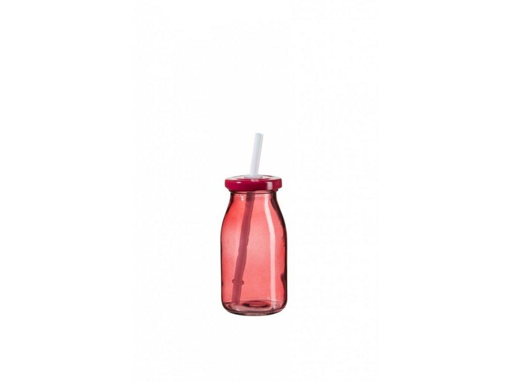 SUMMER FUN II lahev na smoothie 11,5 cm červená, č