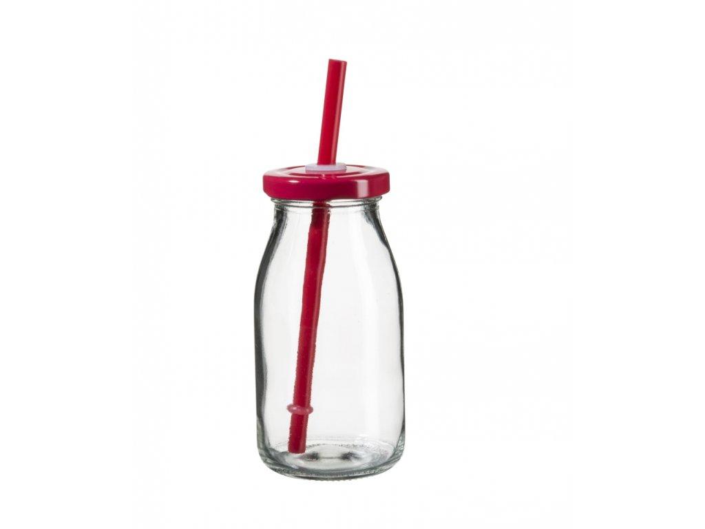 SUMMER FUN II lahev na smoothie 11,5 cm, červené v