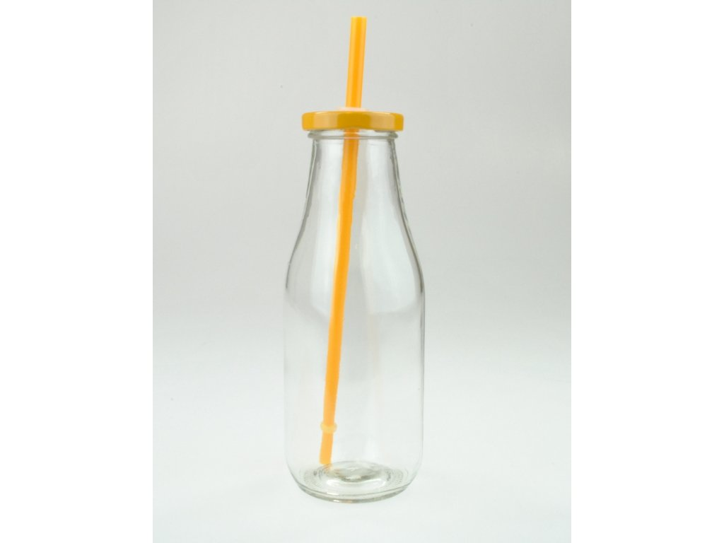 SUMMER FUN II lahev 44 cl, oranžové víčko a brčko
