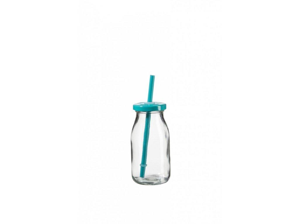 SUMMER FUN II lahev na smoothie 11,5 cm, tyrkys. v