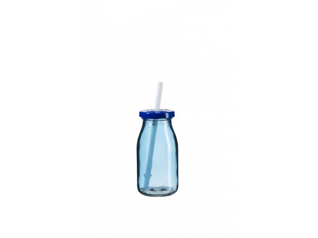 SUMMER FUN II lahev na smoothie 11,5 cm modrá, mod