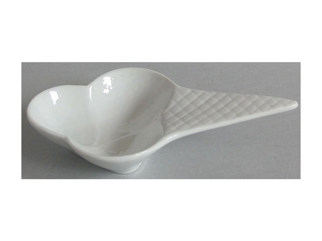 EISTUTE Zmrzlinka kornout 13 cm bílá
