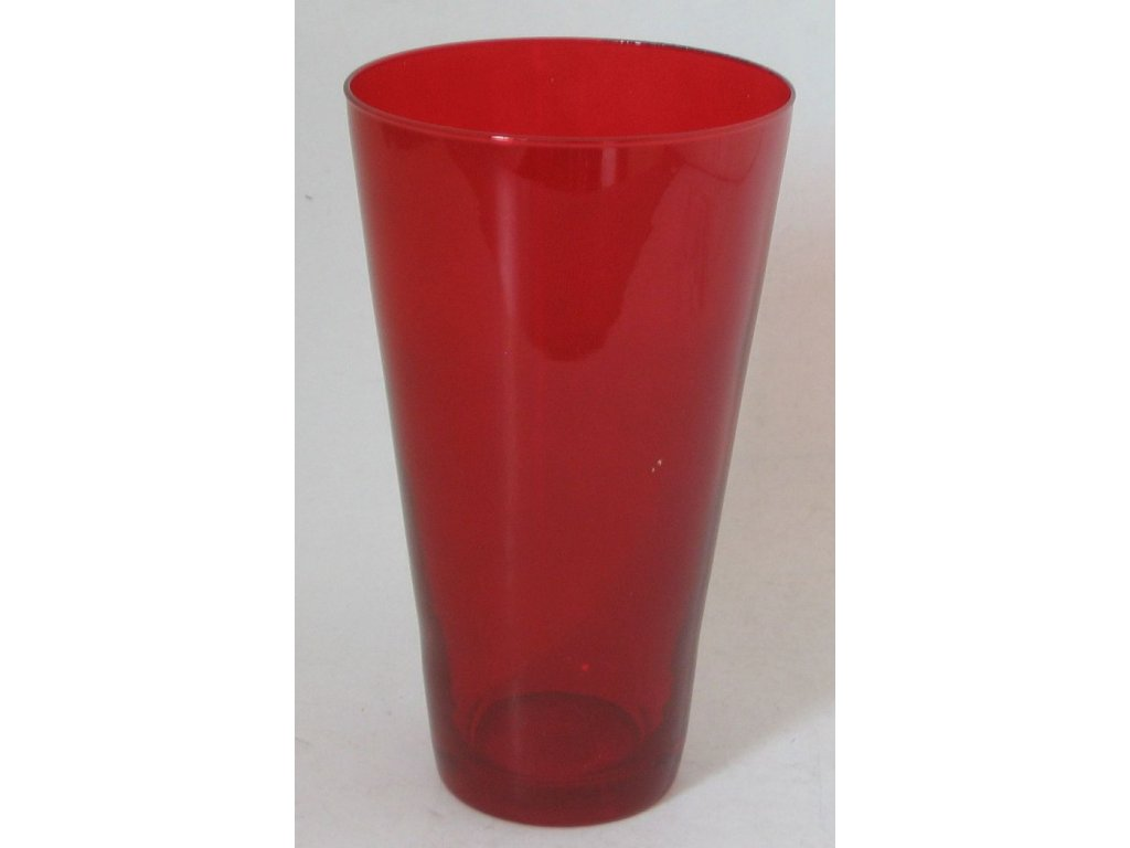 OSTATNÍ Váza kónická kulatá 20 cm červená