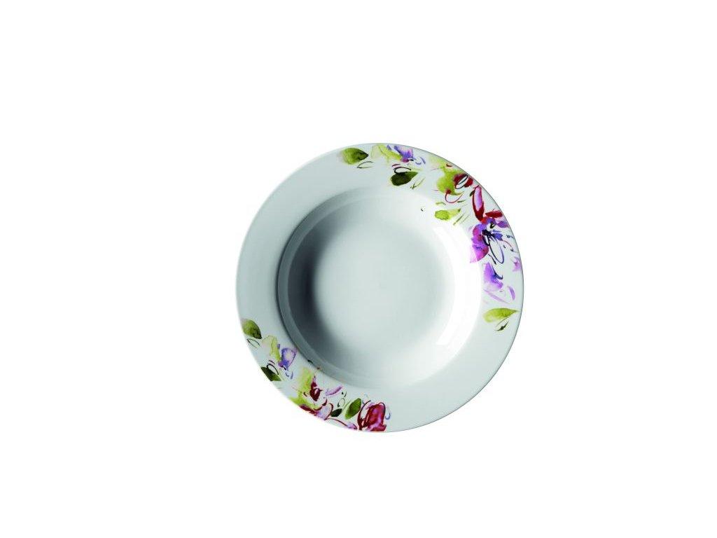 CLASICO FLORAL talíř hluboký 21,5 cm