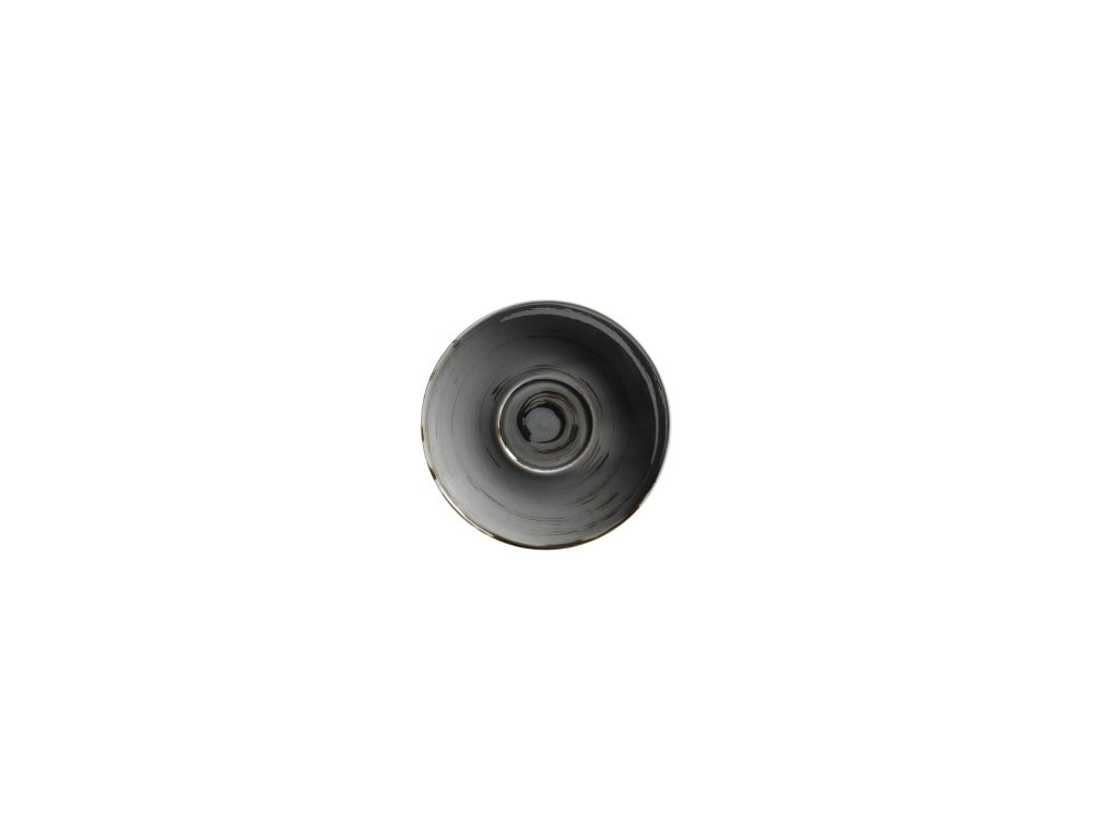 DERBY podšálek tm. šedý 14 cm