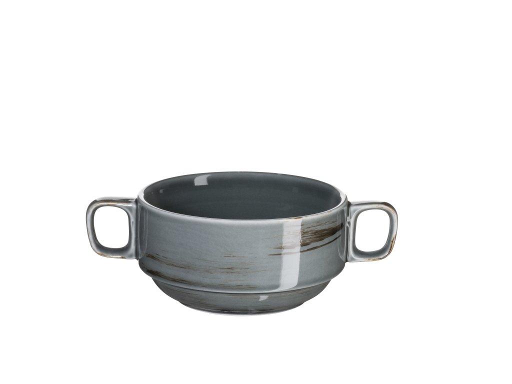 DERBY miska na polévku tm. šedá 27 cl