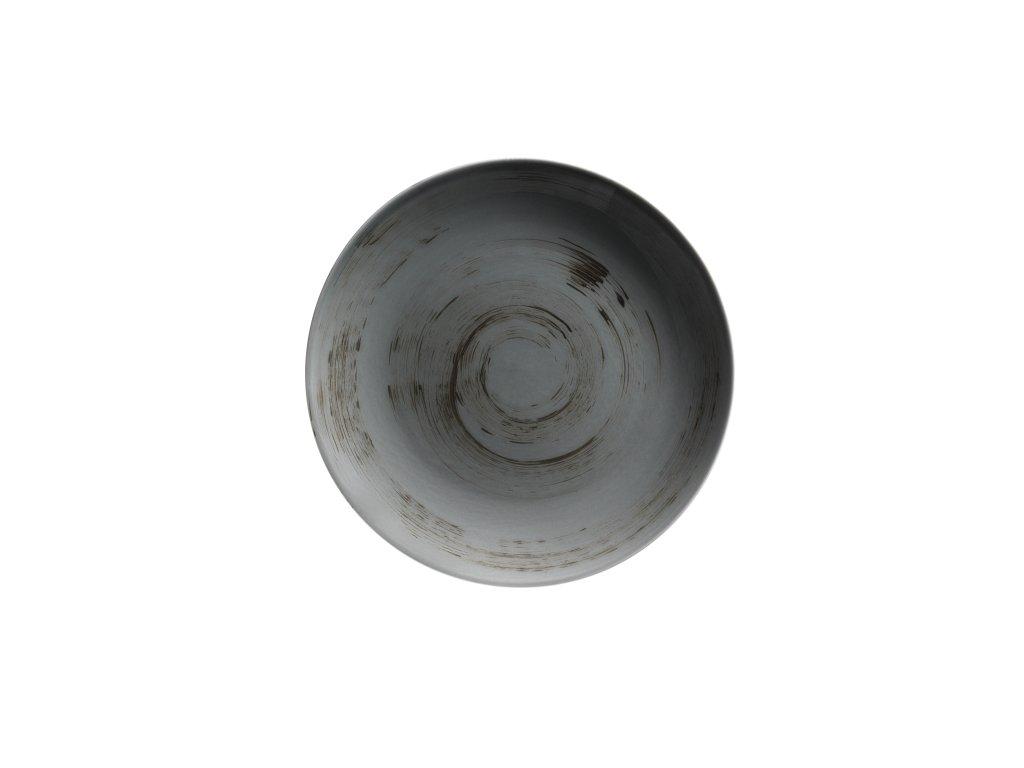 DERBY talíř plochý tm. šedý 26,8 cm