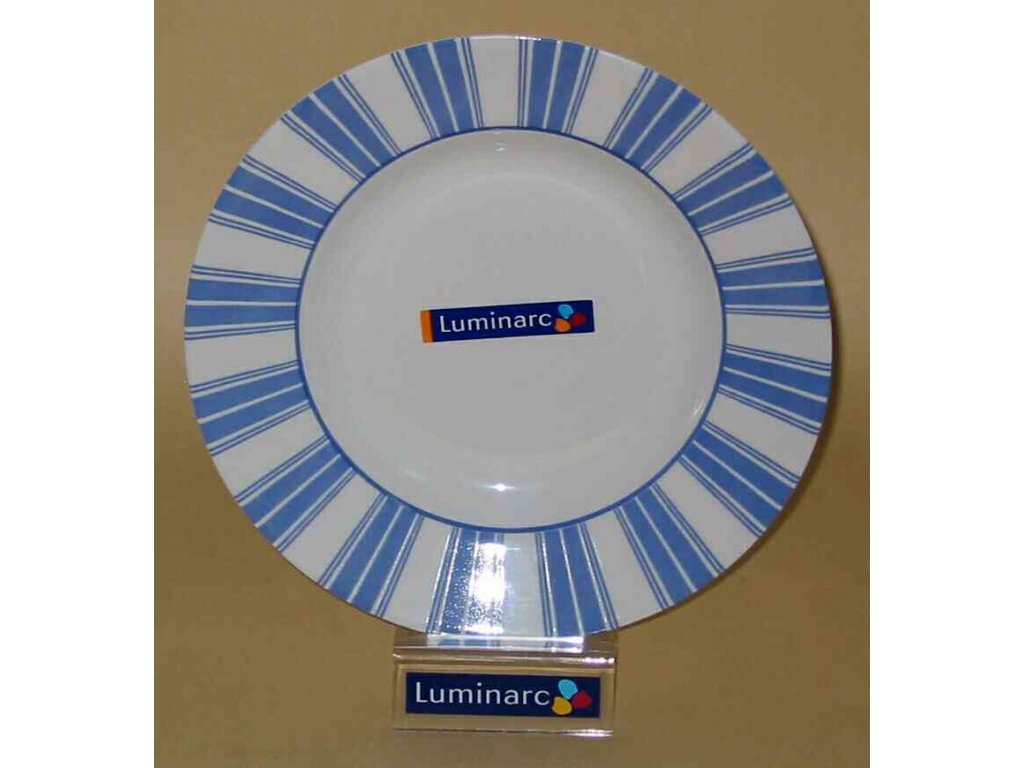 EMPIRE BLUE Talíř hluboký 22.6 cm dekor