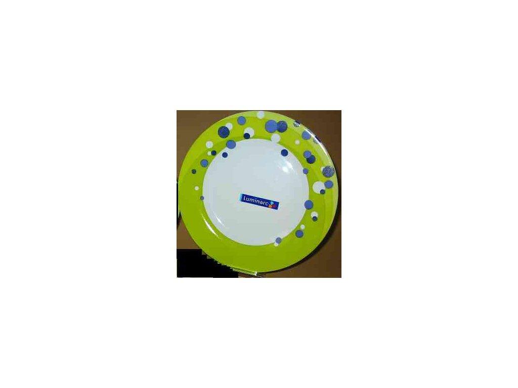 GOMETTE BLUE Talíř plochý 25 cm dekor
