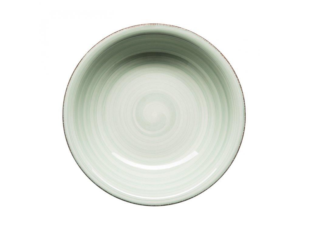 BEL TEMPO talíř hluboký 21,5 cm sv. zelený