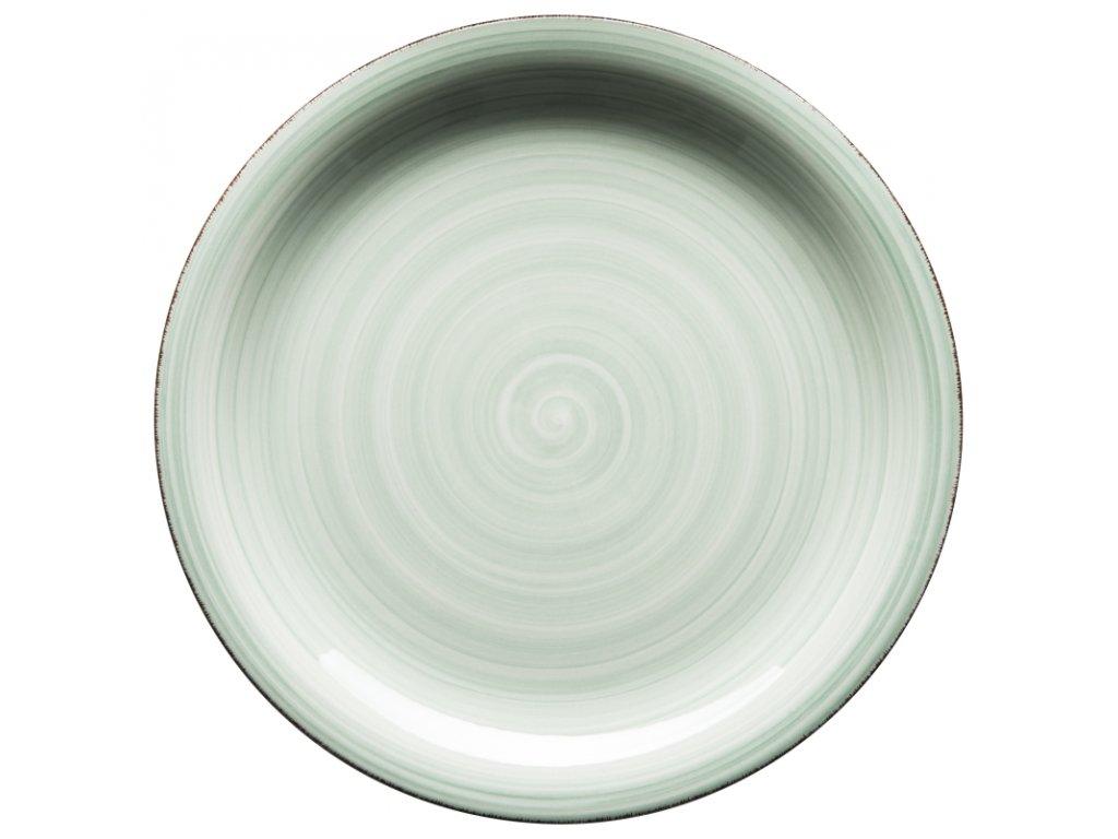 BEL TEMPO talíř plochý 27 cm sv. zelený