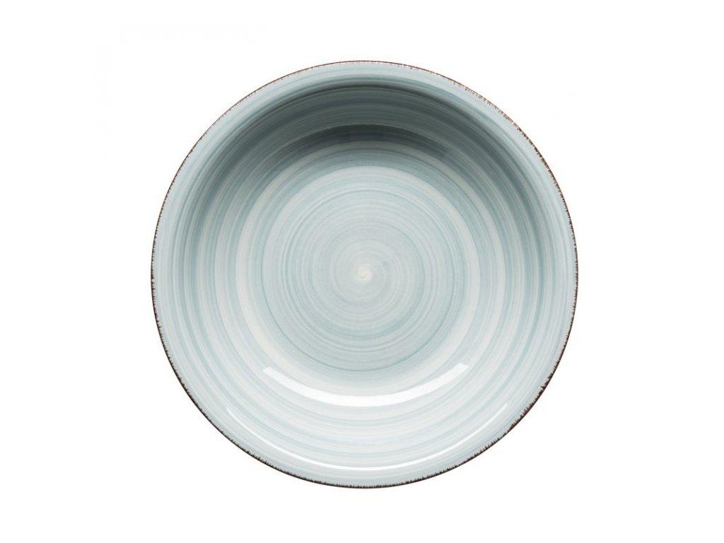 BEL TEMPO talíř hluboký 21 cm sv. modrý