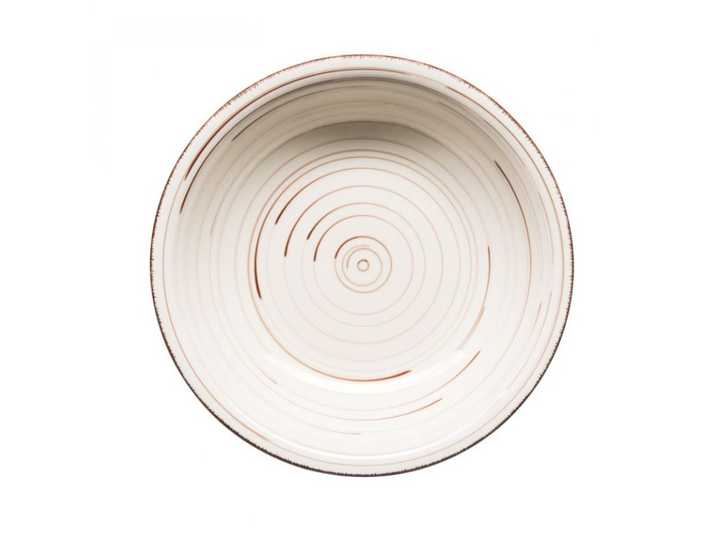 BEL TEMPO talíř hluboký 21 cm béžový