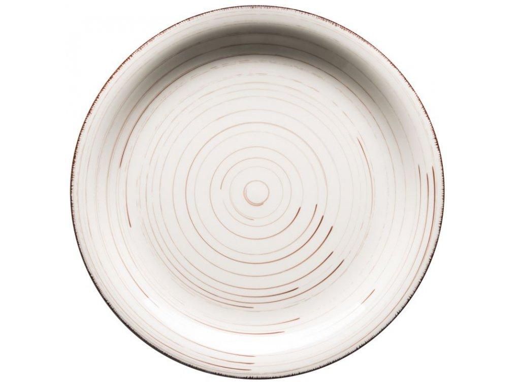 BEL TEMPO talíř plochý 27 cm béžový