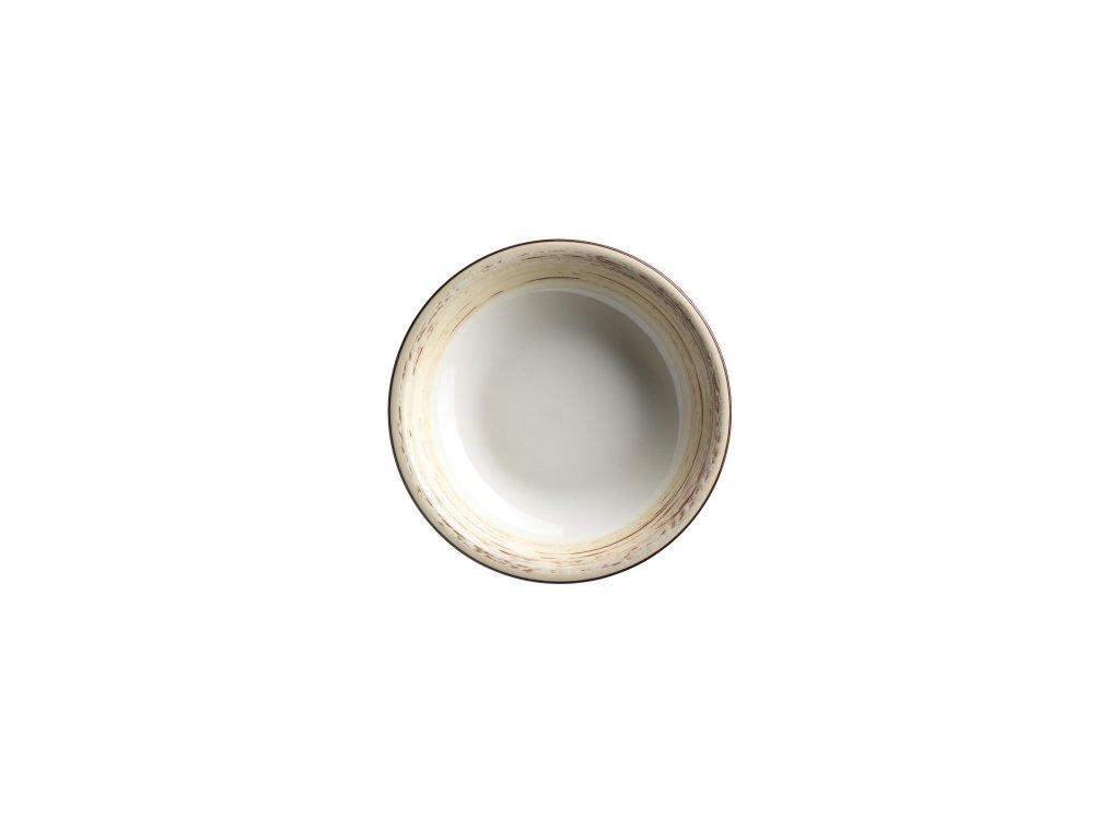 DUOLE talíř hluboký béžový 21,5 cm