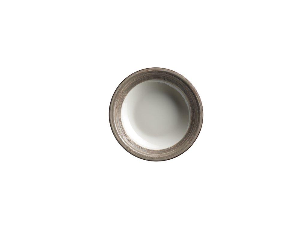 DUOLE talíř hluboký hnědý 21,5 cm