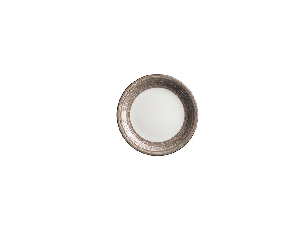 DUOLE talíř desertní hnědý 19 cm