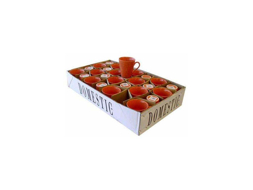 Hrnek kónický oranžový 33 cl