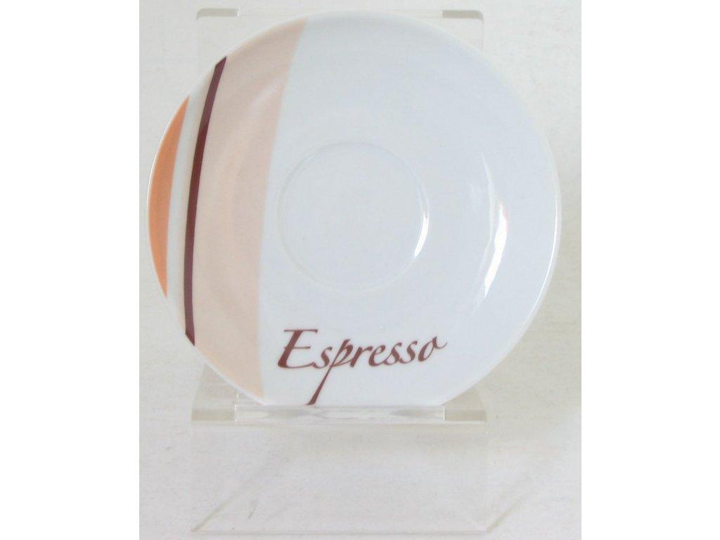 LA CENA Podšálek Espresso dekor