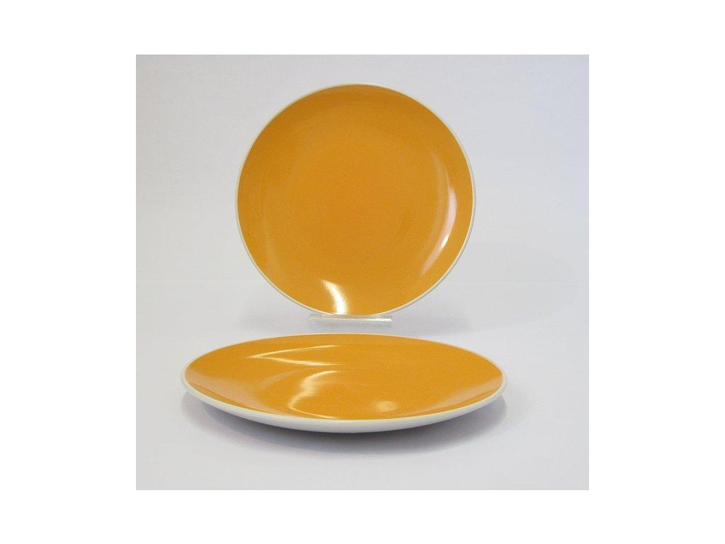 TWO TONE Talíř plochý 24 cm oranžový
