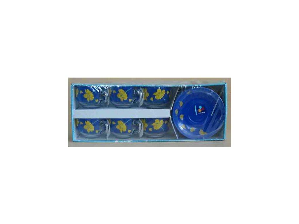 PETALE SOLEIL Šálek s podšálkem 22 cl dekor